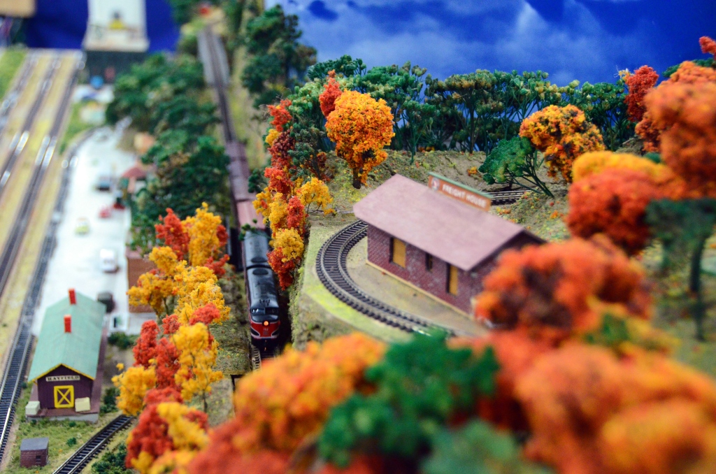 A detailed model train at Trainfest